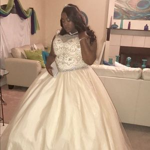 a6fbe4105f9 Dresses - Plus size champagne Quinceanera dress